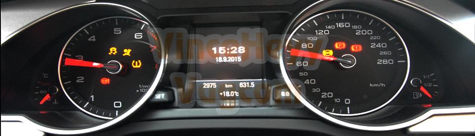 Audi A5 - 8T (Facelift) - test des aiguilles